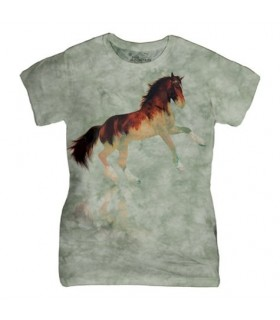Ladies Forest Stallion Horse T Shirt