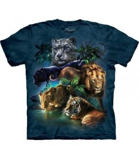 T-Shirt Félins de la Jungle par The Mountain