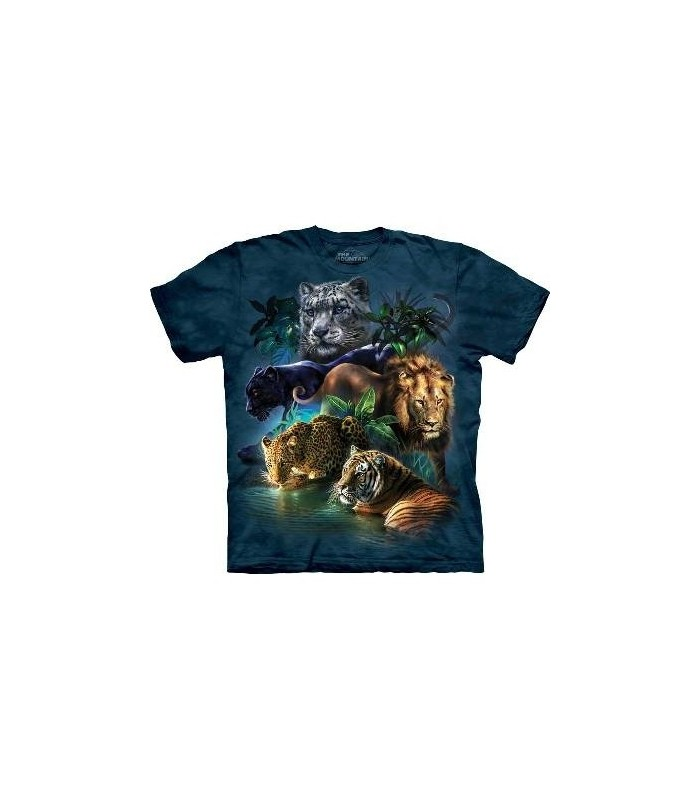 Big Cats Jungle - Big Cats T Shirt by the Mountain