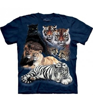 Big Cat Collage - Zoo Shirt Mountain