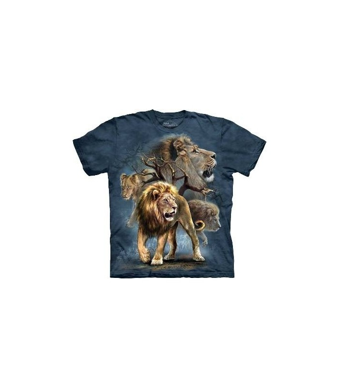 Lion Collage - Big Cats T Shirt by the Mountain