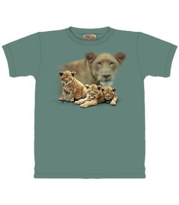 Lion Cub Focus - Zoo Animals T Shirt by the Mountain