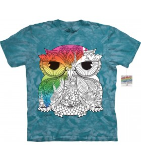 T-shirt hibou 1 à colorier