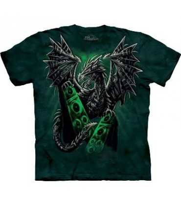 Electric Dragon - Dragon T Shirt by the Mountain