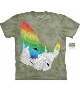 T-shirt rhinocéros à colorier