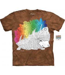 T-shirt porc-épic à colorier