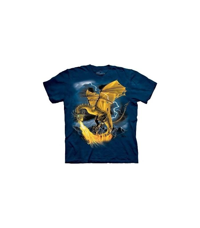 Golden Dragon - Dragons Shirt by the Mountain