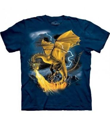 T-Shirt Dragon en Or par The Mountain