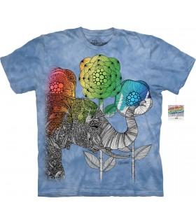 T-shirt éléphant à colorier