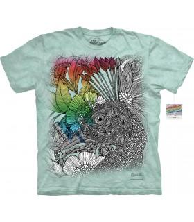 T-shirt à colorier Fleurs