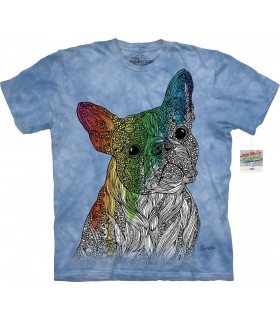 T-shirt chien à colorier