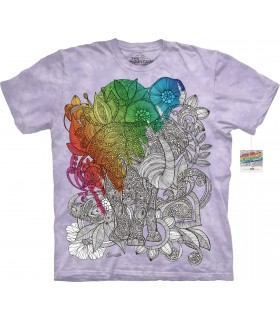 T-shirt Elephant à colorier