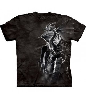 T-Shirt Dragon d'Argent par The Mountain