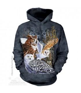 Find 11 Owls Hoodie Sweatshirt