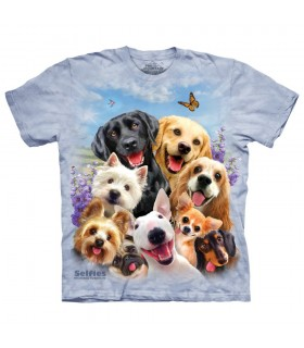 T-shirt Selfie de Chiens The Mountain