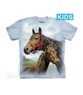 T-shirt Jument et Poulain The Mountain