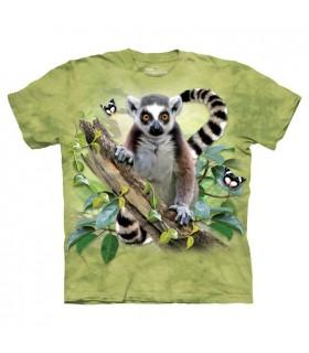T-shirt Lémurien & Papillons
