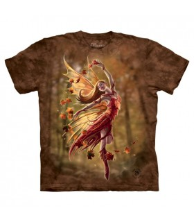 Une Fée en Automne - T-shirt Fantasy The Mountain