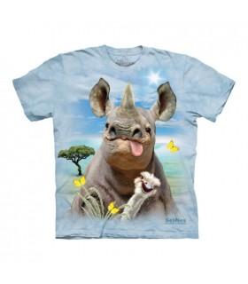 T-shirt Rhinocéros Selfie The Mountain