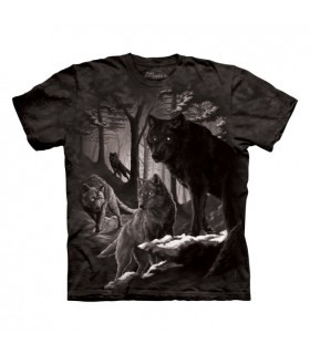 T-shirt Loups en Hiver The Mountain