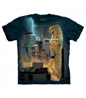 Catzilla vs Robot T Shirt