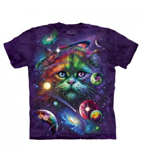 Cosmic Cat Space T Shirt