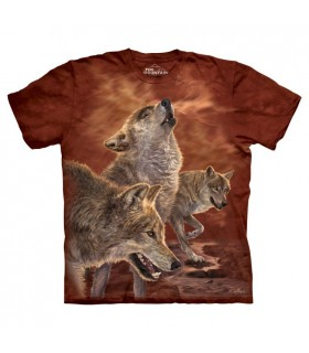 Red Glow Wolves T Shirt