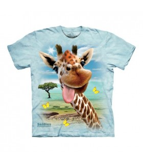 T-shirt Girafe en Selfie The Mountain