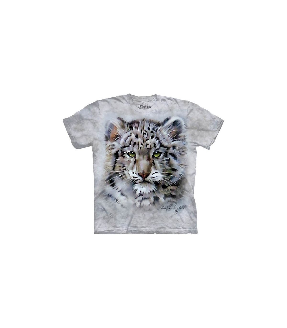1917a8bbd95a The Mountain Unisex Baby Snow Leopard Animal T Shirt