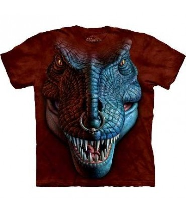 T-Rex Face - Dinosaur T Shirt by the Mountain