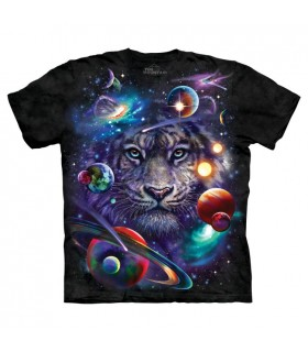 T-shirt Tigre Blanc du Cosmos The Mountain