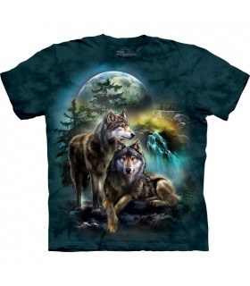 T-shirt 2 Loups The Mountain