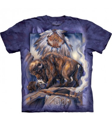 T-shirt Amérindien Bison The Mountain