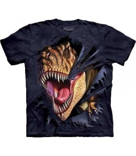 T-Rex Tearing - Dinosaur T Shirt by the Mountain