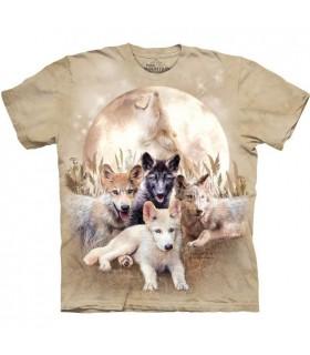 Jeunes et Sauvages - T-shirt Loup The Mountain