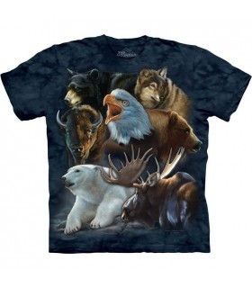 Wild Alaskan Collage T Shirt