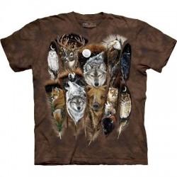 T-Shirt animaux et plumes par The Mountain