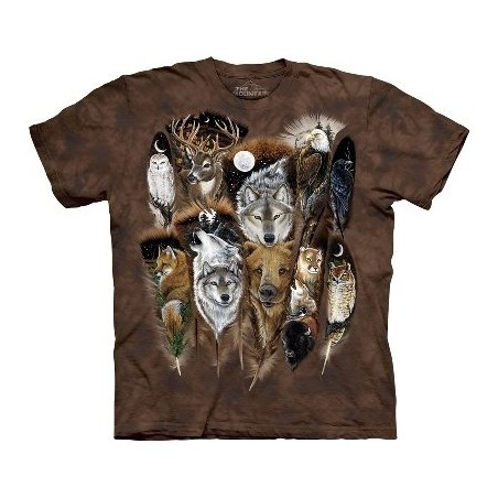 T-Shirt animaux et plumes par The Mountain