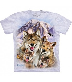 Selfie de Loup - T-shirt animal The Mountain