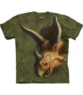 T-Shirt tête de Tricératops par The Mountain