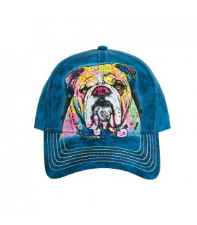 Colourful Bulldog Baseball Cap