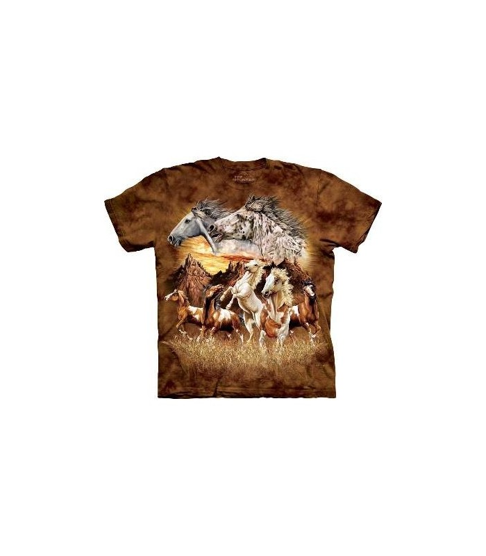 Trouver 15 chevaux - T-shirt Cheval The Mountain
