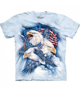 T-Shirt Aigle Patriote USA The Mountain