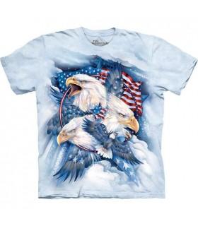 T-Shirt Aigle Patriote USA The Mountain