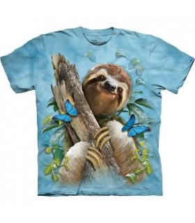 Sloth & Butterflies T Shirt