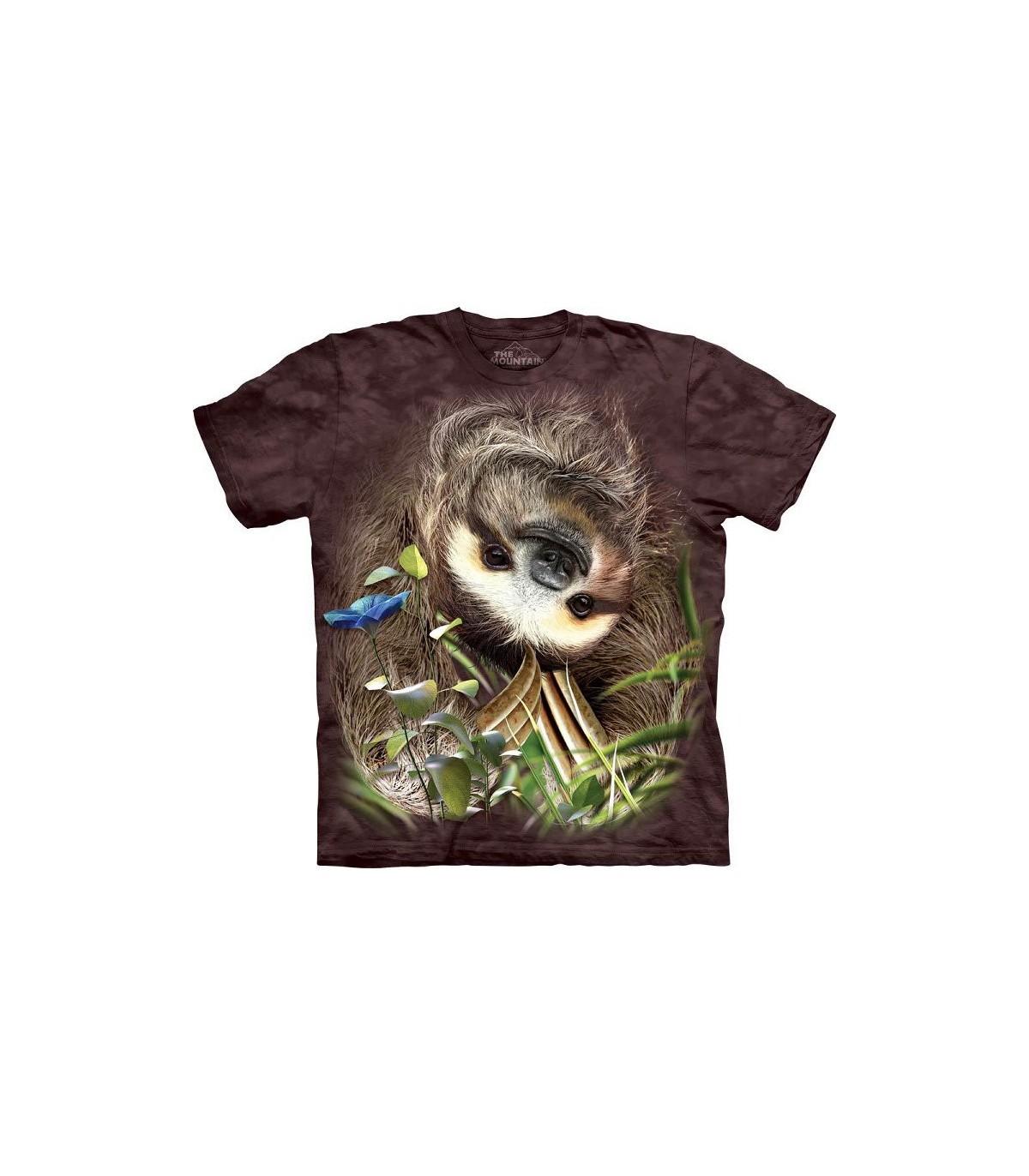 a851c00064744 The Mountain Unisex Sloth Animal T Shirt