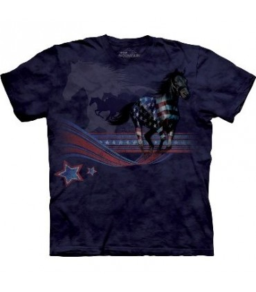 T-shirt Cheval drapeau par The Mountain