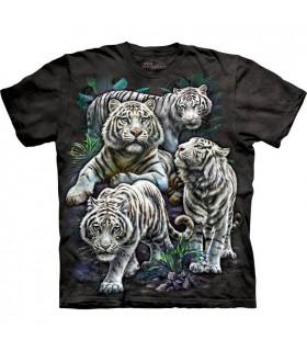 T-shirt Tigres Blancs Majestueux