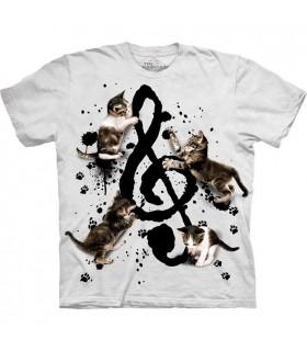 T-shirt Chaton et Musique The Mountain
