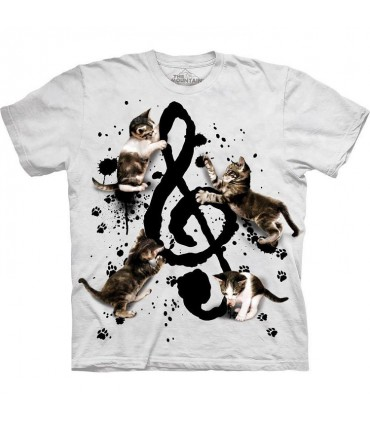 T-shirt Chaton et Musique The Mountain